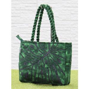 ハワイアンキルト スタンダードミニ バッグ Hawaiian Quilt Standard Mini Bag モンステラ ブラックxグリーン 送料無料|alohahiyori
