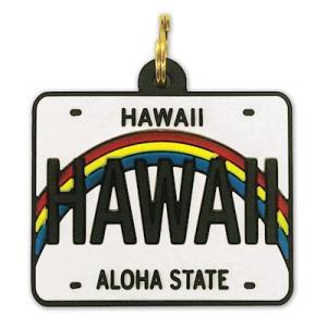ハワイ キーカバー Hawaii Key Cover HAWAII LICENSE PLATE RAINBOW|alohahiyori