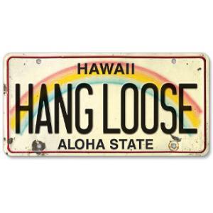 ハワイ ナンバープレート ライセンスプレート ハワイアン 雑貨 壁掛け HANG LOOSE ハングルーズ|alohahiyori