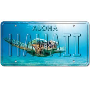 ハワイ ナンバープレート ライセンスプレート ハワイアン 雑貨 壁掛け Honu Flare ホヌ|alohahiyori