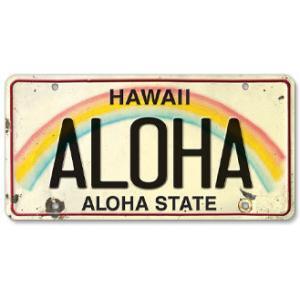 ハワイ ナンバープレート ライセンスプレート ハワイアン 雑貨 壁掛け ALOHA アロハ|alohahiyori