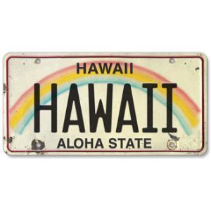 ハワイ ナンバープレート ライセンスプレート ハワイアン 雑貨 壁掛け HAWAII ハワイ|alohahiyori