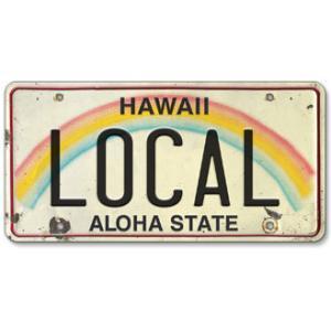 ハワイ ナンバープレート ライセンスプレート ハワイアン 雑貨 壁掛け LOCAL LOCO|alohahiyori