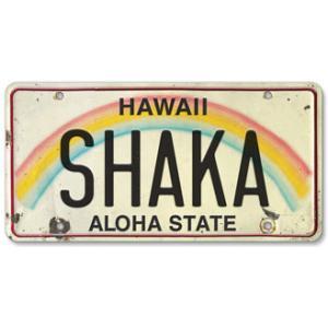 ハワイ ナンバープレート ライセンスプレート ハワイアン 雑貨 壁掛け SHAKA シャカ|alohahiyori