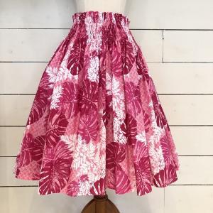 PAU パウ パウスカート MONSTERA LEAF Pink モンステラ リーフ ピンク alohahiyori