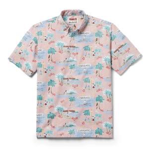 プルオーバー アロハシャツ 半袖 レインスプーナー Surfin Snoopy サーフィン スヌーピー PINK ピンク alohahiyori