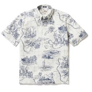 アロハシャツ 半袖 レインスプーナー OUR PARADISE アワー パラダイス WHITE ホワイト alohahiyori