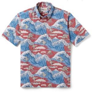 アロハシャツ 半袖 レインスプーナー Surfin SUMO サーフィン 相撲 EARTH RED レッド alohahiyori
