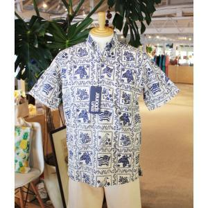 アロハシャツ 半袖 レインスプーナー Lahaina Sailor ラハイナセイラー Natural ナチュラル PULLOVER プルオーバー alohahiyori
