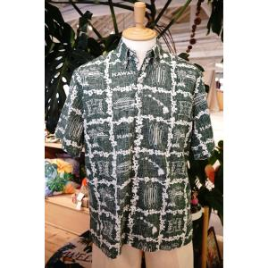 アロハシャツ 半袖 レインスプーナー UH University of Hawaii ハワイ大学 GREEN グリーン alohahiyori