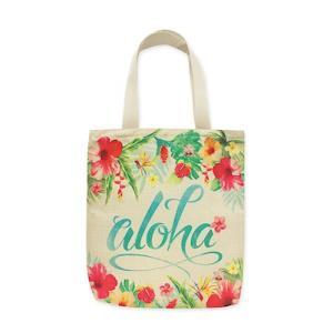 エコバッグ ジッパー付 トートバッグ アロハフローラル eco tote bag Aloha Floral alohahiyori