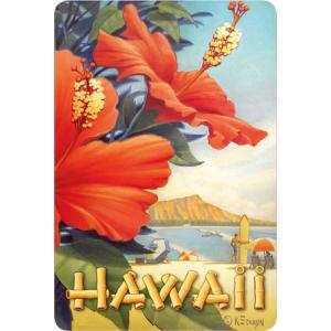ハワイ ポストカード ビンテージカード Hibiscus Beach Day by Kerne Erickson alohahiyori