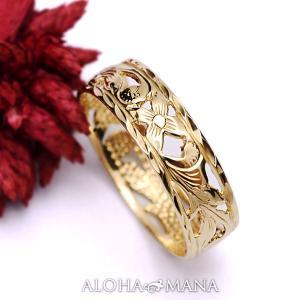 ハワイアンジュエリー リング イエローゴールドリングPrincess ambrig09cr alohamana
