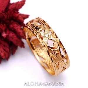 ハワイアンジュエリー ピンクゴールド リングPrincess ambrig09crpg alohamana