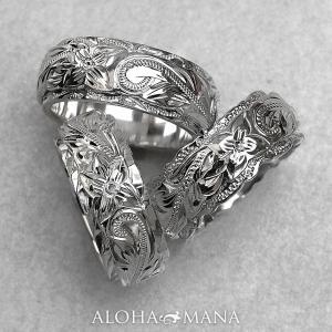 ハワイアンジュエリー リング指輪 レディース メンズ ペアリングとしても グラマラスデュアルトーン 選べる3種のエッジ ari007sv バレンタイン プレゼント|alohamana