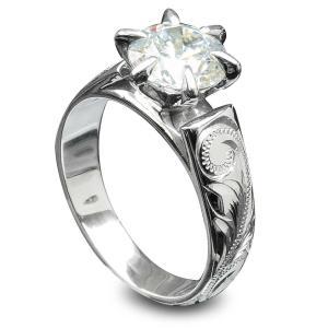 ハワイアンジュエリー リング指輪 スワロフスキーCZダイヤ (キュービックジルコニア) フレンチマウントリング レディース 女性 シルバー925 ari1229|alohamana