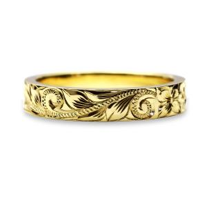 ハワイアンジュエリー 結婚指輪 マリッジリング 14金18金プラチナ Weliana ONLY ONE フラット ゴールドリング(幅3mm) cdr009mili バレンタイン プレゼント alohamana