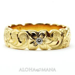 ハワイアンジュエリー 結婚指輪 マリッジリング Weliana ONLY ONE ゴールドバレル リング カレイキニ 幅4mm 6mm 8mm cdr022kale バレンタイン プレゼント alohamana
