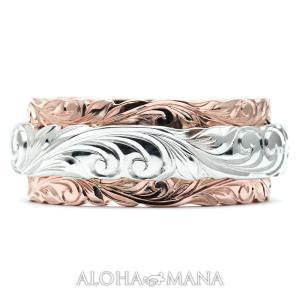 ハワイアンジュエリー 結婚指輪 マリッジリング Weliana ONLY ONE デュアルトーンオー...