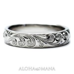 ハワイアンジュエリー 結婚指輪 マリッジリング Weliana ONLY ONE プラチナ バレル ...