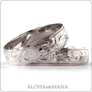 ハワイアンジュエリー 結婚指輪 マリッジリング Weliana ONLY ONE シークレットマナプ...