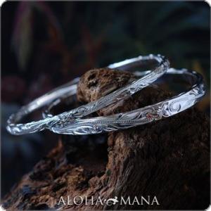 ハワイアンジュエリー バングル オーダーメイドSILVER925バングル フラットタイプ dbgs20037 バレンタイン プレゼント|alohamana