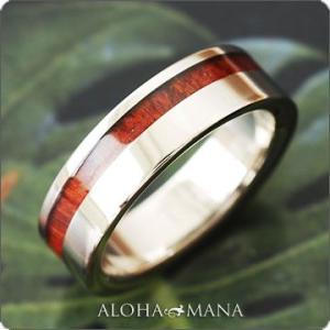 ハワイアンジュエリー リング指輪 チタン コアウッドライン メンズ fritir4062ti/数量限定 クリスマス プレゼント 男性|alohamana