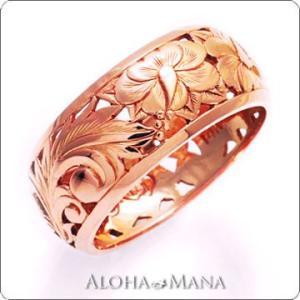 ハワイアンジュエリー リング ゴールドリングParadise hijri000pg alohamana