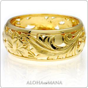 ハワイアンジュエリー リング イエローゴールドリングParadise hijri000yg alohamana