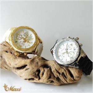ハワイアンジュエリー 腕時計 メンズ レディース [Maxi マキシ]クロノグラフ シリコン ウォッチ mwz1319/新作|alohamana
