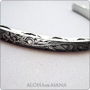 ハワイアンジュエリー バングル Maxi マキシ ヘビーウェイトオープンバングル 4mm SILVER925 mxbg0018bp クリスマス プレゼント alohamana
