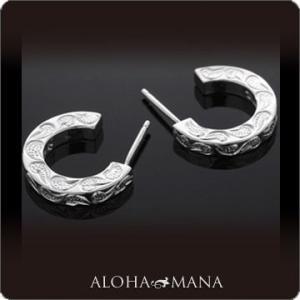 ハワイアンジュエリー ピアス Maxi マキシ C-シェイプピアス SILVER925 mxer0021sv バレンタイン プレゼント|alohamana