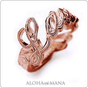ハワイアンジュエリー リング Maxi マキシ メッセージリング K14ピンクゴールド mxri0117pg|alohamana