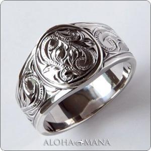 ハワイアンジュエリー リング指輪 Maxi マキシ ラウンドTapperリング ブラックゴールドポリッシュSILVER925 mxri0131bp クリスマス プレゼント|alohamana