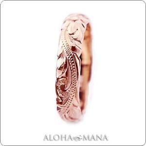 ハワイアンジュエリー リング Maxi マキシ オールドイングリッシュ カットアウトリング K14ピンクゴールド mxri0133pg|alohamana