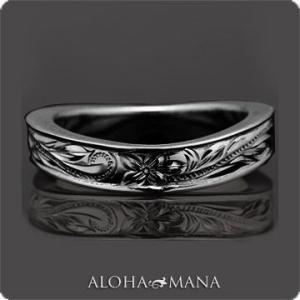 ハワイアンジュエリー リング指輪 Maxi マキシ WAVEリング4mm SILVER925 ブラックゴールドポリッシュ mxri0147bp クリスマス プレゼント|alohamana