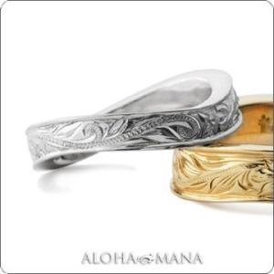 ハワイアンジュエリー リング Maxi マキシ WAVEリング4mm K14ホワイトゴールド mxri0147wg|alohamana