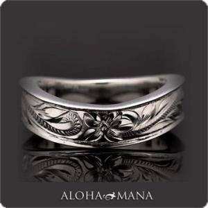 ハワイアンジュエリー リング指輪 Maxi マキシ WAVEリング6mm SILVER925 ブラックゴールドポリッシュ mxri0148bp クリスマス プレゼント|alohamana
