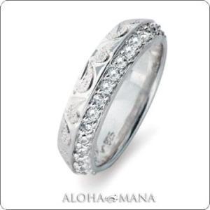 ハワイアンジュエリー リング Maxi マキシ ホワイトクオーツストーンアングルリング6mm K14ホワイトゴールド mxri0154wg|alohamana