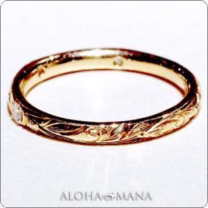 ハワイアンジュエリー 指輪リング Maxi マキシ プリンセスマリッジリング ダイヤ0.03ct K...