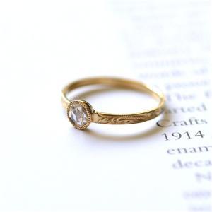 ハワイアンジュエリー リング指輪 レディース (K18 ゴールド 18金) ローズカット ダイヤモンド 一粒ソリティアリング イエローゴールド wri1356/新作|alohamana