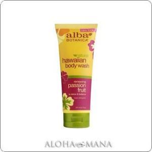 【在庫限り】Alba Botanica アルバボタニカ Passion Fruit Body Wash ハワイアン ボディウォッシュ PF パッションフルーツ(207mL) xzb1090|alohamana
