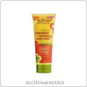 【完売】Alba Botanica アルバボタニカ Papaya Mango Exfoliating Body Wash ハワイアン ゴマージュボディウォッシュ PM パパイヤマンゴー(200mL) xzb1091|alohamana