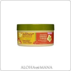 【在庫限り】Alba Botanica アルバボタニカ Papaya Mango Body Cream ハワイアン ボディクリームPM パパイヤマンゴー(180g) xzb1092|alohamana