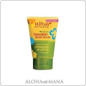 【完売】Alba Botanica アルバボタニカ Pineapple Enzyme Facial Scrub ハワイアン フェイシャルスクラブ PE パイナップル (118g) xzs1086|alohamana