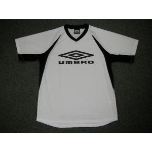 UMBRO アンブロ ブラクティスシャツ UBS7730 ホワイトXブラック|alor21