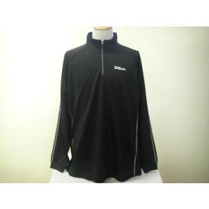 Wilson ウィルソン ハーフジップシャツ WLR542S ブラック|alor21
