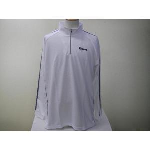Wilson ウィルソン ハーフジップシャツ WLR542S ホワイト|alor21