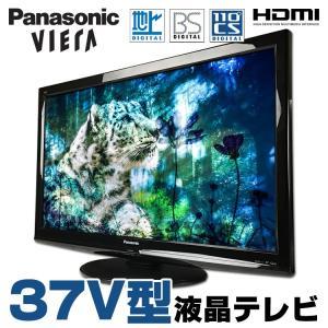 液晶テレビ 本体 中古 37V型液晶テレビ Panasonic VIERA TH-37LRG20J 地上デジタル BSデジタル 110度CSデジタル リモコン・B-CASカード付属 ブラック|alpaca-pc