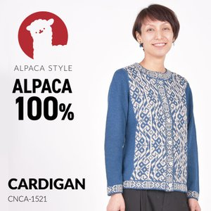 アルパカ カーディガン レディース アルパカ100% CNCA-1521